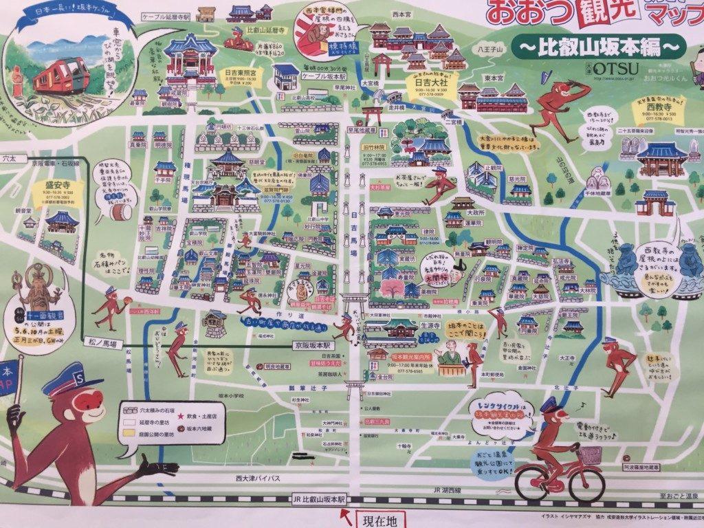 比叡山阪本駅マップ
