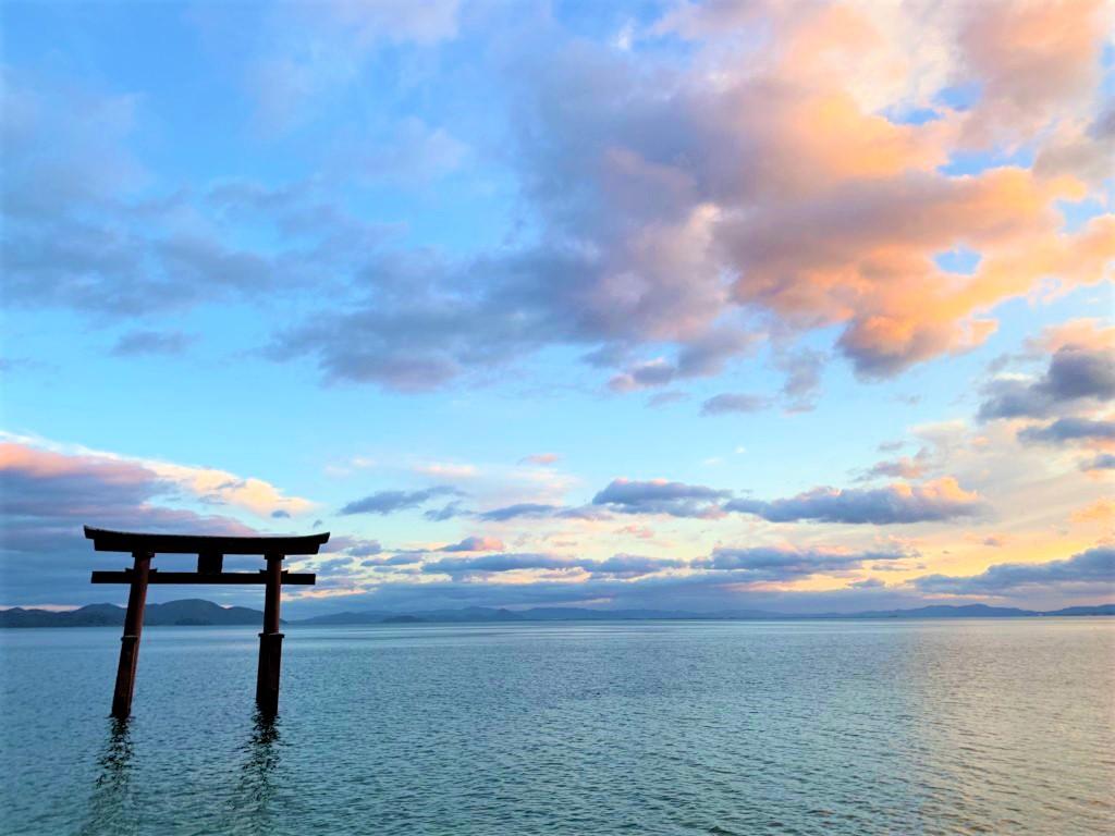 白髭神社 湖上鳥居